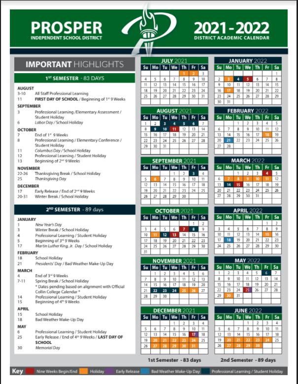 PISD Calendar